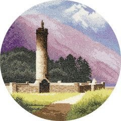John Clayton Counted Cross Stitch Circle Kit Bonnie Prince Charlie's Monument