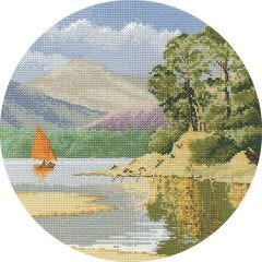 John Clayton Counted Cross Stitch Circle Kit Calm Waters