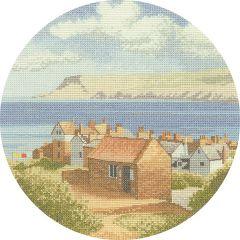 John Clayton Counted Cross Stitch Circle Kit Coastal Village