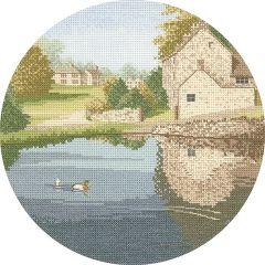 John Clayton Counted Cross Stitch Circle Kit Duck Pond