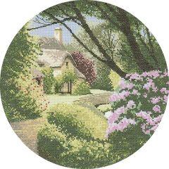 John Clayton Counted Cross Stitch Circle Kit Secret Garden