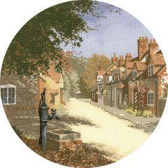 John Clayton Counted Cross Stitch Circle Kit The Old Pump