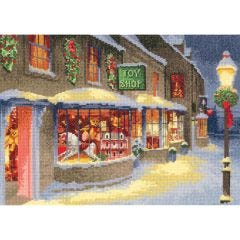 John Clayton Counted Cross Stitch Kit Christmas Toyshop