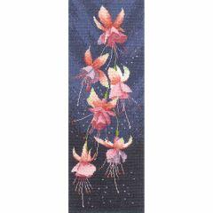 John Clayton Counted Cross Stitch Flower Panel Kit Fuchsia