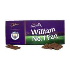 Personalised Cadbury 850g Licensed Football Bar  - Manchester City