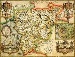 Merionethshire Historical Map 1000 Piece Jigsaw Puzzle (1610)