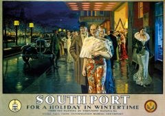 Railway Poster Jigsaw - After the show - Southport