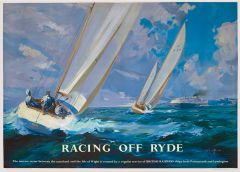 Railway Poster Jigsaw - Racing Off Ryde, Isle of Wight