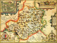 Montgomeryshire Historical Map 1000 Piece Jigsaw Puzzle (1610)