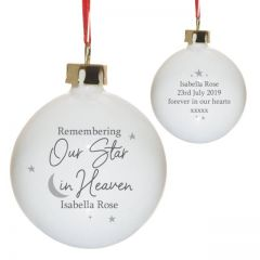 Our Star In Heaven Bauble