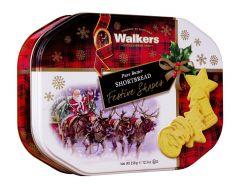 Santa Sleigh Large Shortbread Tin