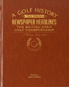 The Open Golf Newspaper Book