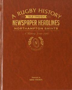 Personalised Northampton Rugby Newspaper Book