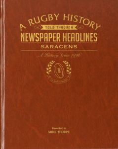Personalised Saracens Rugby Newspaper Book