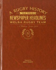 Personalised Welsh Rugby Team Newspaper Book