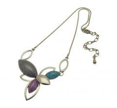 Teal Cluster Necklace