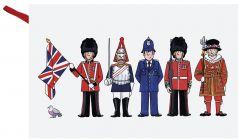 London Figures Tea Towel