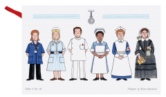 Celebrating Nursing Tea Towel