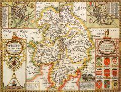 Warwickshire Historical Map 1000 Piece Jigsaw Puzzle (1610)