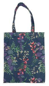 Wild Florals Navy Cotton Tote Bag