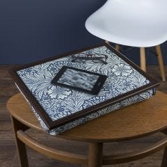 William Morris Marigold Indigo Lap Tray