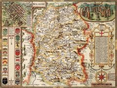 Wiltshire Historical Map 1000 Piece Jigsaw Puzzle (1610)