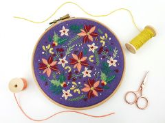 Winter Flowers Embroidery Kit