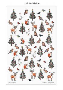 Winter Wildlife Tea Towel