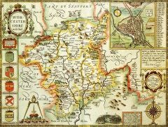 Worcestershire Historical Map 1000 Piece Jigsaw Puzzle (1610)