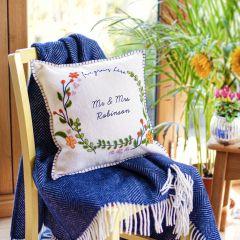 Personalised Handmade Love Wreath Cushion