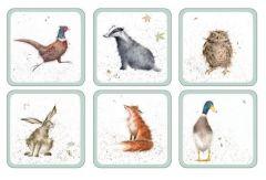 Wrendale Coasters -  Set of Six