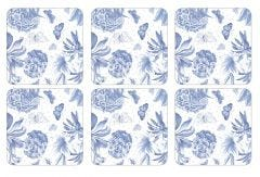 Pimpernel Botanic Blue Coasters Set of 6 Small