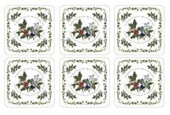 Pimpernel The Holly and The Ivy Coasters Set of 6