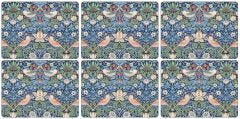 Strawberry Thief Blue Placemats Set of 6