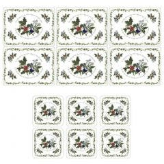 Pimpernel The Holly and The Ivy 6 Placemats and 6 free coasters