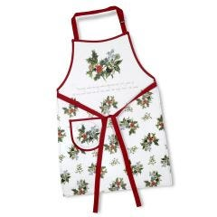 The Holly and The Ivy Cotton Drill Apron