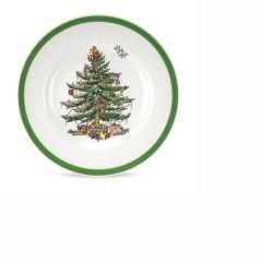 Christmas Tree Bread Plates - Set of 4