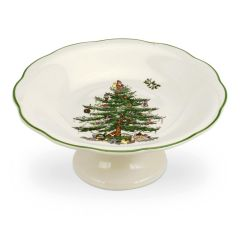 Christmas Tree Sculpted Footed Candy Dish