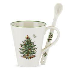 Christmas Tree Mug and Spoon