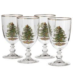 Christmas Tree Goblet Set of 4