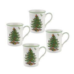 Christmas Tree Mugs - Boxed Set of 4