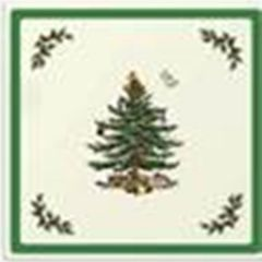 Spode Christmas Tree Set of 4 Glass Coasters