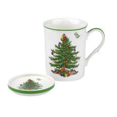 Christmas Tree Mug and Coaster Boxed Set
