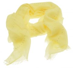 Yellow Sequin Scarf