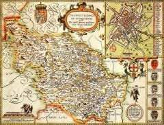 Yorkshire West Riding Historical Map 1000 Piece Jigsaw Puzzle (1610)