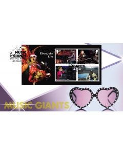 Elton John Miniature Sheet Stamps Collectable