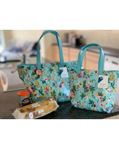 Blue Chintz Large PVC Shopper Bag