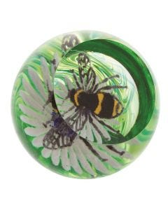 Busy Bee on a Flower Paperweight