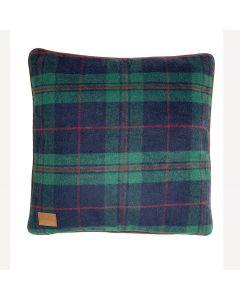 Green Tweed Filled Cushion