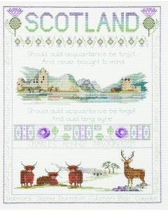 BNWT Counted Cross Stitch  Embroidery Kit Scottish Sampler by Stitchkits